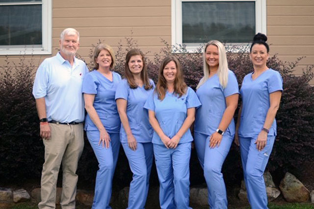Dr. Thomas and his staff